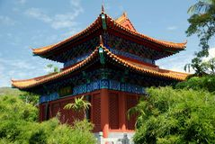 San Ya, China: Nanshan Temple Pavilion Royalty Free Stock Photo