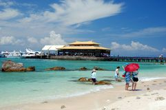 San Ya, China: San Ya Bay Beach Stock Image