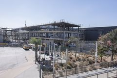 Construction of the new San Ysidro Port of Entry. SAN YSIDRO, CALIFORNIA, USA - OCTOBER 5, 2017: Construction is underway for the new building for the San Ysidro Stock Image