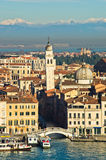 San Zaccaria bridge and bell tower in Venice Royalty Free Stock Photos