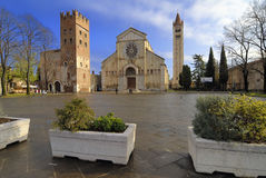 San Zeno. Basilica and Abbey, the most important religious building in Verona, Italy Royalty Free Stock Photo