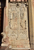 San Zeno Basilica beautiful medieval reliefs Stock Photo