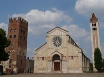 The San Zeno basilica in Verona in Italy Royalty Free Stock Image