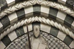 San Zeno cathedral marble decoration Stock Photos