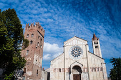 San Zeno Church in Verona, Italien Stockfotos