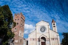 San Zeno kościół w Verona, Włochy Zdjęcia Stock