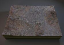 Sana'a budynków i ulic mapa Zdjęcia Royalty Free