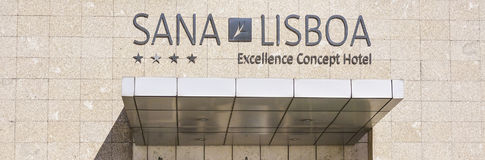 Sana Lisboa Hotel in der Stadt von Lissabon Lizenzfreies Stockbild