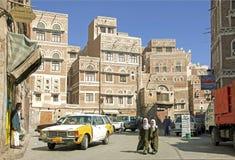 Sanaa old town in yemen Royalty Free Stock Photos