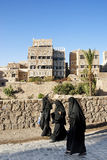 Sanaa city yemen street scene Royalty Free Stock Images