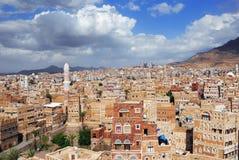 Sanaa de hoofdstad van Yemen Stock Foto