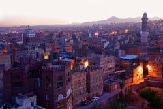 Sanaa miasta ranek stary Sanaa widok Obrazy Royalty Free