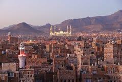 Sanaa. Morgenansicht über die alte Stadt Lizenzfreie Stockfotografie