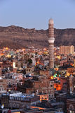 Sanaa. Morning view on the old city Royalty Free Stock Photos