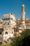 Sanaa old town yemeni traditional architecture Stock Photos