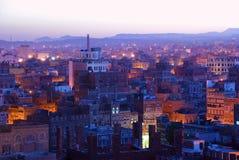Sanaa Vue de matin sur la vieille ville Image stock