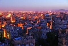 Sanaa. Vue de matin sur la vieille ville Photos stock