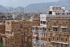 Sanaa, Yemen. Old city of Sanaa, capital of Yemen Stock Image
