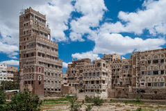 Sanaa, Yemen. Traditional yemeni architecture in Sanaa, Yemen Stock Photos
