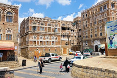 Sanaa, Yemen Stockfotos