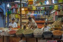 SANAA, YEMEN - Februari, 20: Kruidmarkt in Sanna, Yemen, op Fe Stock Foto