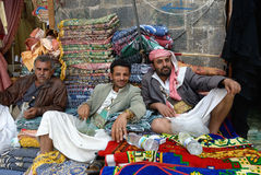 Street market in Yemen Royalty Free Stock Images