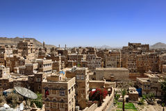Sanaa, Yemen. Traditional architecture in Sanaa,capital of Yemen Stock Image