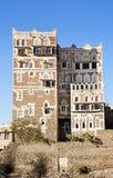 Sanaa, Yemen - traditionele yemeni architectuur royalty-vrije stock foto's