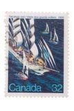 Sanada -1984: Guarnizioni di un bollo Grond alto del DES del visite di visita delle navi Immagini Stock