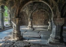 Sanahin monasteru filary zdjęcia stock