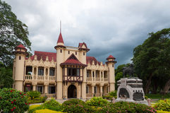 Sanam Chandra Palace and Dog Statue Stock Images