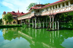 Sanam Chandra Palace is een complex paleis gebouwd door Vajiravudh in Nakhon Pathom, Thailand stock afbeelding