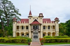 Sanam Chandra Palace. Nakhon Pathom Province, Thailand. H.M. King Rama VI granted the name of this palace Royalty Free Stock Photo