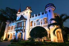 Sanam Chandra Palace. At night in Nakornpathom, Thailand Stock Photos