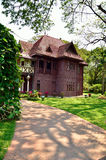 Sanam Chandra Palace is a tiny castle-like structure stock photography
