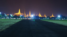 Sanam Luang. Landscape at Sanam Luang in the night View Stock Images