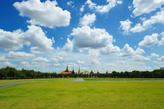 Sanam Luang (The Royal Field) in Bangkok, Thailand Royalty Free Stock Photos