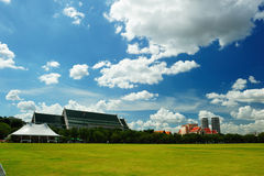 Sanam Luang (The Royal Field) in Bangkok, Thailand Royalty Free Stock Photo