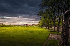 Sanam Luang (The Royal Field) in Bangkok, Thailand Stock Images