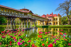 Sanamchan Palace in Nakornpathom, Thailand. NAKORNPATHOM, THAILAND - FEBRUARY 9, Sanamchan Palace on February 9, 2024 in Nakornpathom, Thailand. The palace, the Royalty Free Stock Images