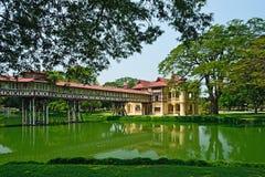 SanamJan palace, Nakornpathom, Thailand. SanamJan palace, an attraction tourist place in Nakornpathom, Thailand. It used to be a palace of King Rama VI royalty free stock photos
