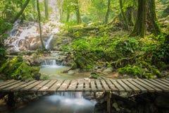 Sanang manora瀑布, Phang Nga,泰国 库存照片