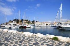 Sanary port, france royalty free stock photo