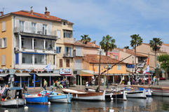 Sanary sur Mer, France - april 20 2016 : the picturesque city stock photography