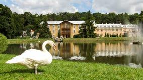 Sanatório do príncipe Joseph em Naleczow no Polônia imagens de stock royalty free