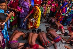 Sanatan-Festival durchgeführt vor neuem Jahr Bangla stockbild
