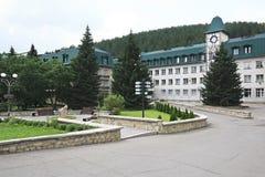 Sanatorium Altai-West in the resort Belokurikha Royalty Free Stock Photo