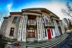 Sanatorium Gorky, Odessa, buildings, monuments of architecture, HDR, Fall, after the rain, sanatorium, architecture, old Odessa, U Royalty Free Stock Images