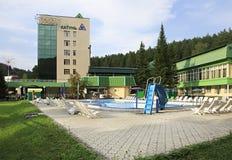 Sanatorium Katun in resort Belokurikha Royalty Free Stock Photo