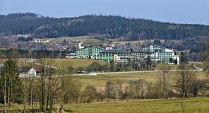 Sanatorium på det terapeutiska badet Harbach för hed royaltyfria bilder